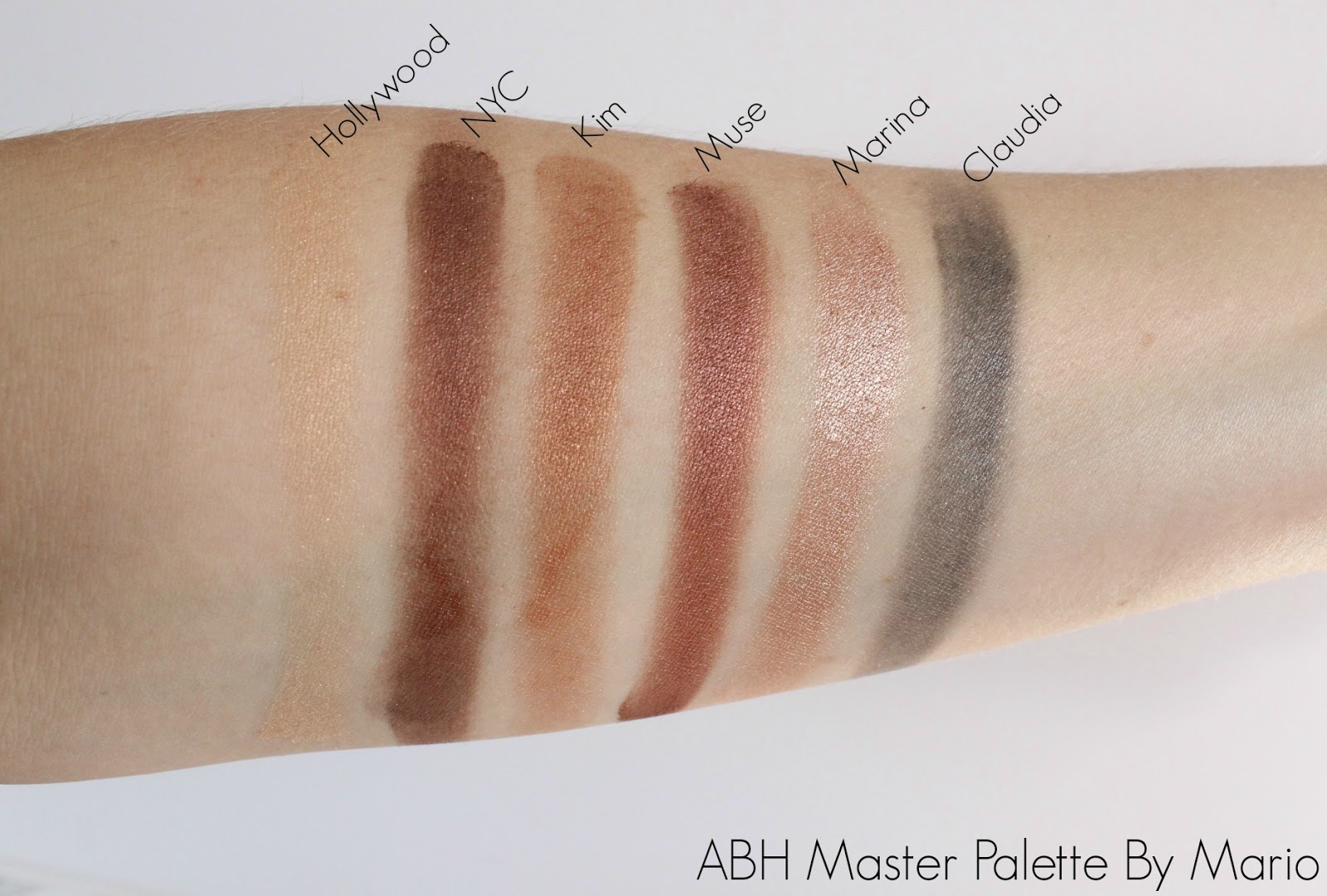 Anastasia Beverly Hills Master Palette By Mario Swatches
