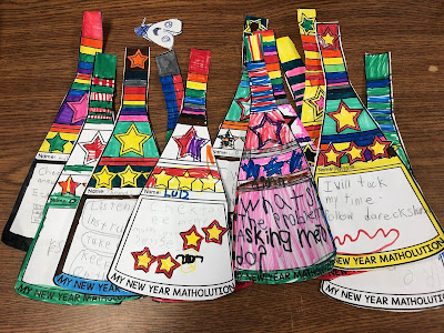 Mrs. Welch's students decorated their matholution pennants with stars and lots of color.