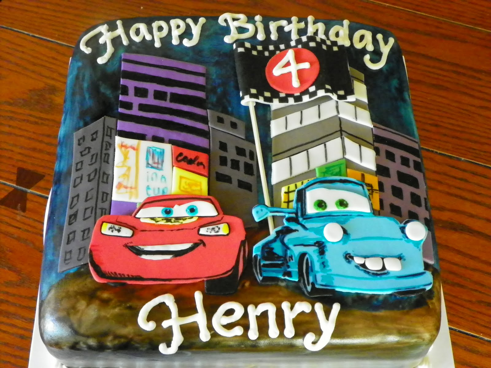 "Disney Cars Birthday Cake: Plumeria Cake Studio: Disney Pixar Cars ""Tokyo Mater"" Cake"