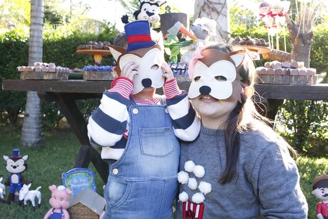 máscaras de feltro lobo mau