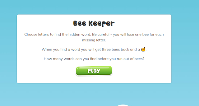 instructions for Bee Keeper Game on Spelling Shed