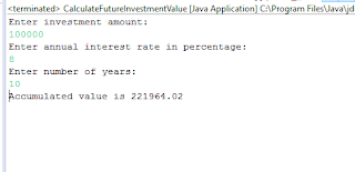 Java Example: How to Calculate the Future Investment Value of