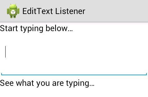 Programmers Sample Guide: Android EditText text change listener example