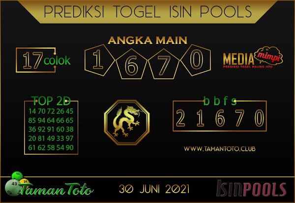 Prediksi Togel ISIN TAMAN TOTO 30 JUNI 2021