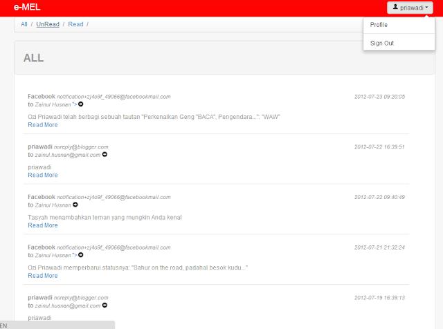 e-MEL Aplikasi pembaca email | Implementasi POP3 & IMAP