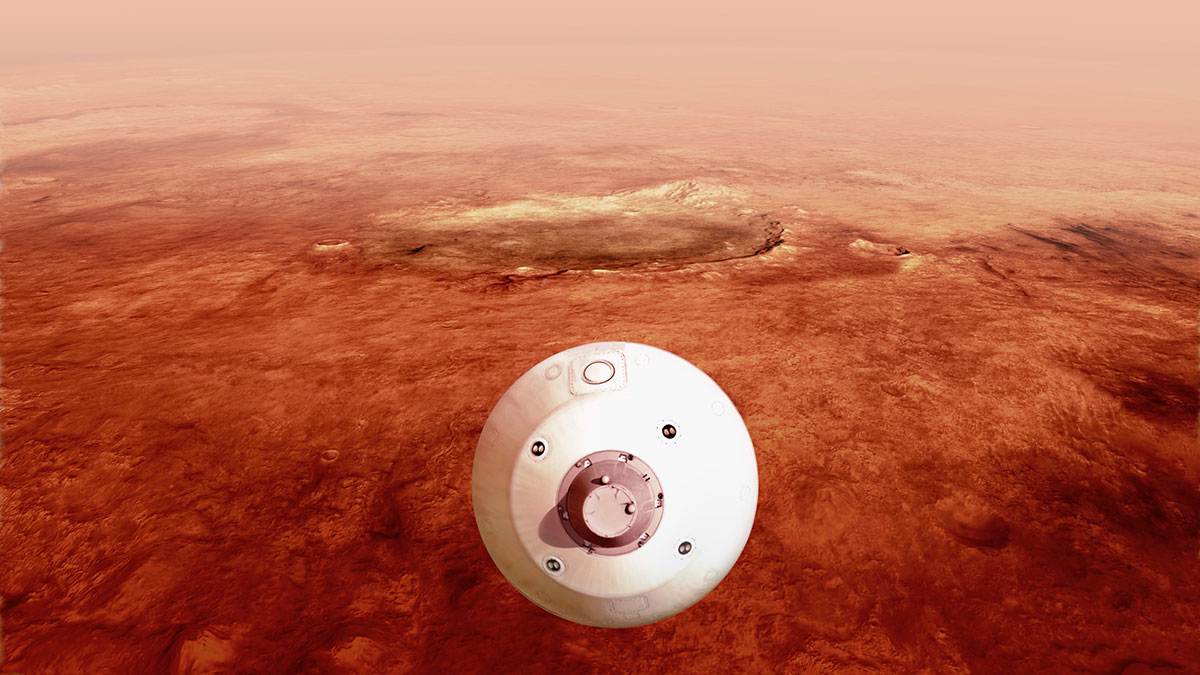 """The """"Perseverance"""" spacecraft lands on Mars ... (NASA)"""