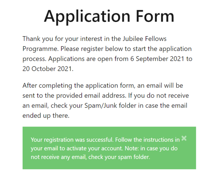 """Nigeria Jubilee Fellows Programme: Solution To """"Your account has not been activated. Follow the instructions in your email during registration to activate your account"""""""