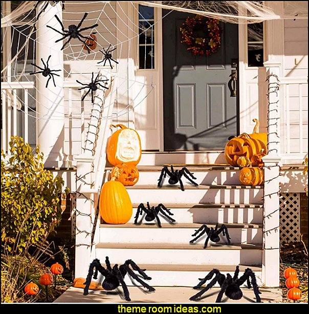 Halloween Spiders  Halloween Props Halloween Spider Set for Indoor and Outside Decorations