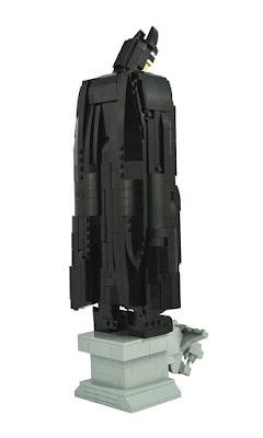 Vista posterior de la figura de Batman