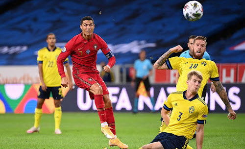 Ronaldo cetak 2 gol dalam laga Swedia vs Portugal