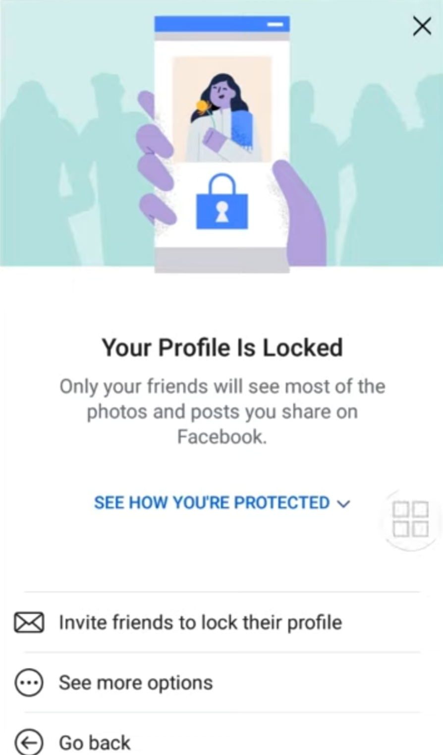 Invite friends for lock profile