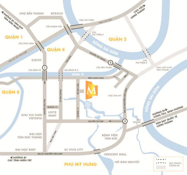 Vị trí của căn hộ M-one quận 7 dễ dàng tiếp cận nhiều tiện ích đáng giá.