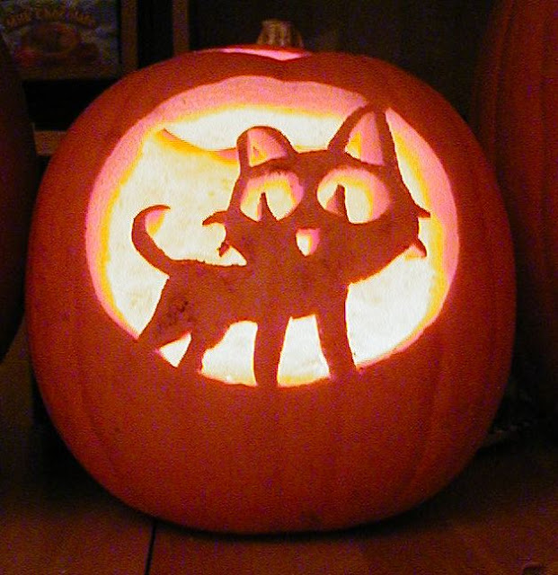 cheshire black grumpy kitty cat jack o lantern pattern stencils