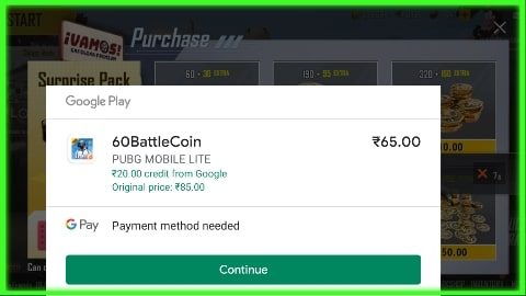 how to buy bc in pubg mobile lite in any country
