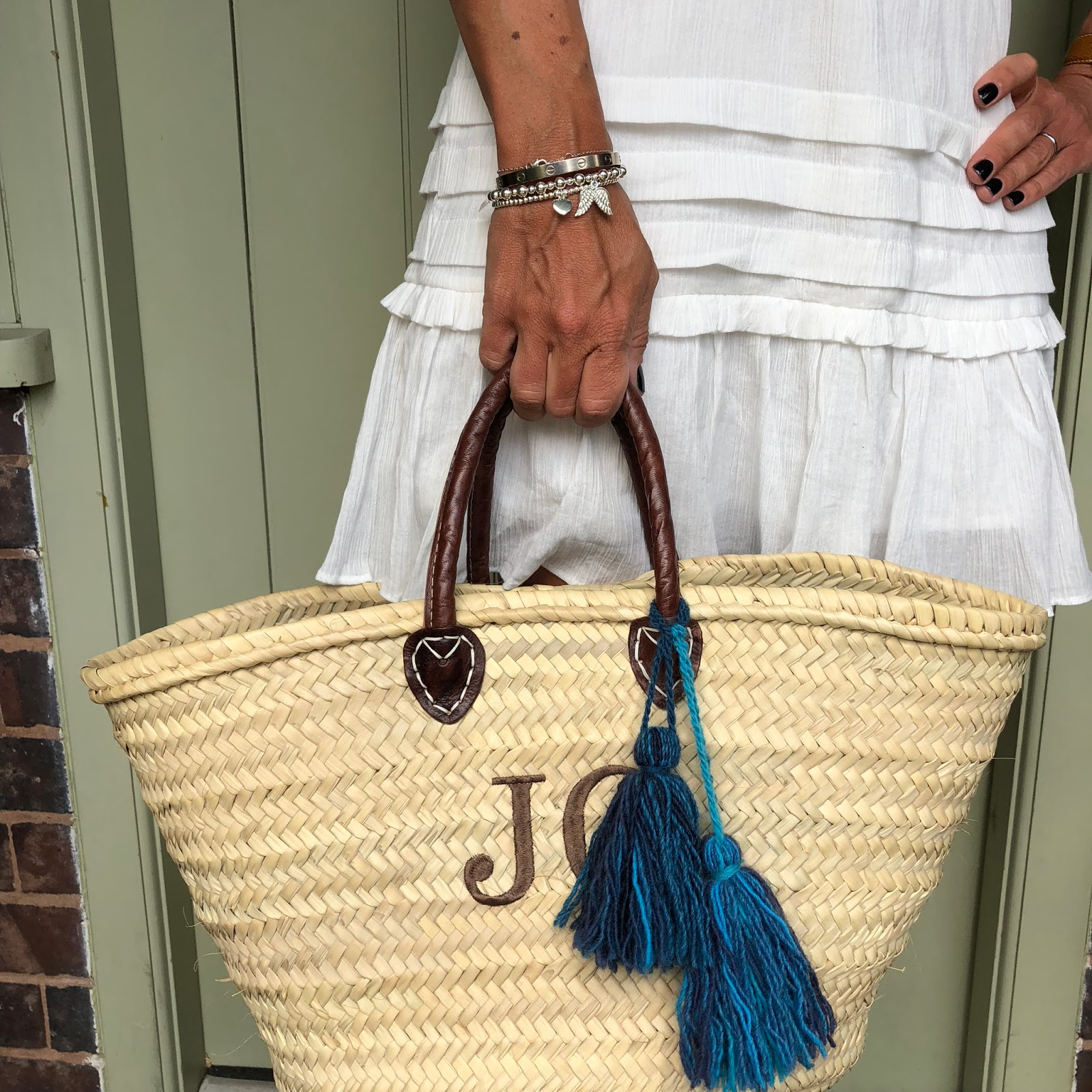 my midlife fashion chlobo solar plexus chakra necklace, hush portobello dress, initially london covent garden medium basket shopper, chlobo mini small ball double angel wing bracelet, chlobo cute charm puffed heart bracelet