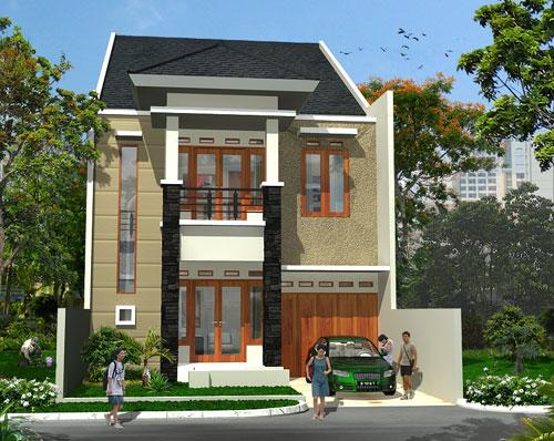 Contoh desain rumah minimalis type 60