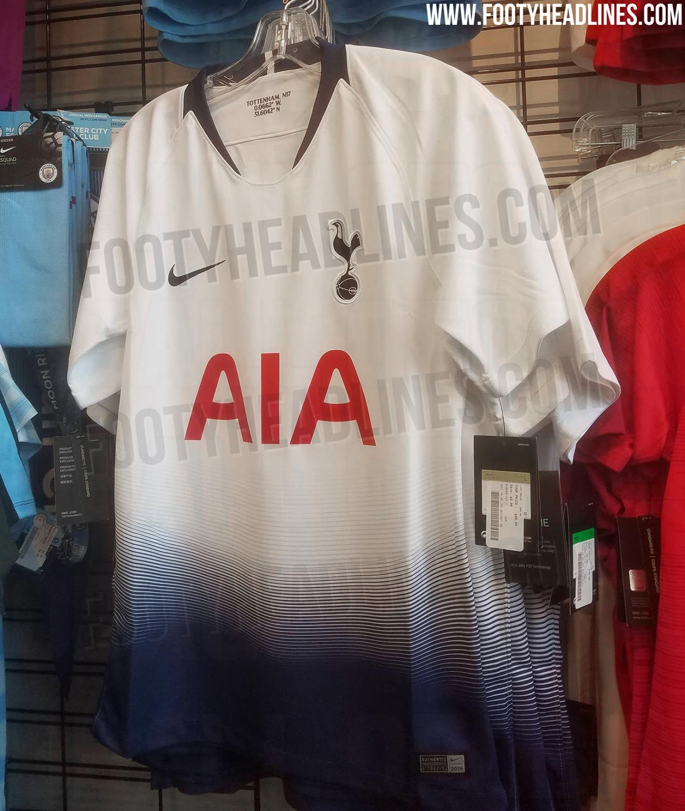 1332aaff Made by Nike in the brand's second year with the club and once again  sponsored by AIA, the Tottenham Hotspur 2018-19 home jersey is set to be  launched in ...