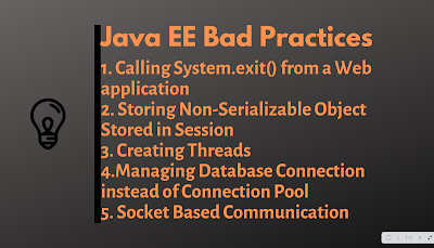Top 5 Java EE Bad Practices to avoid