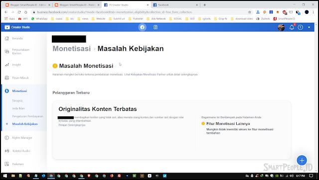 screenshot tidak memenuhi syarat monetisasi