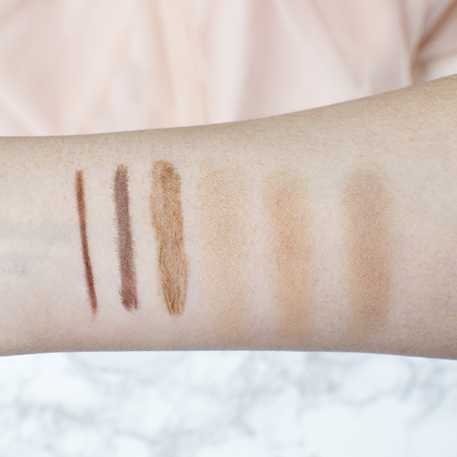 YSL Brow Product Swatches