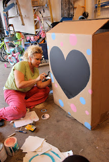 Chalkboard Paint Gender Reveal Box | The Magic Brush