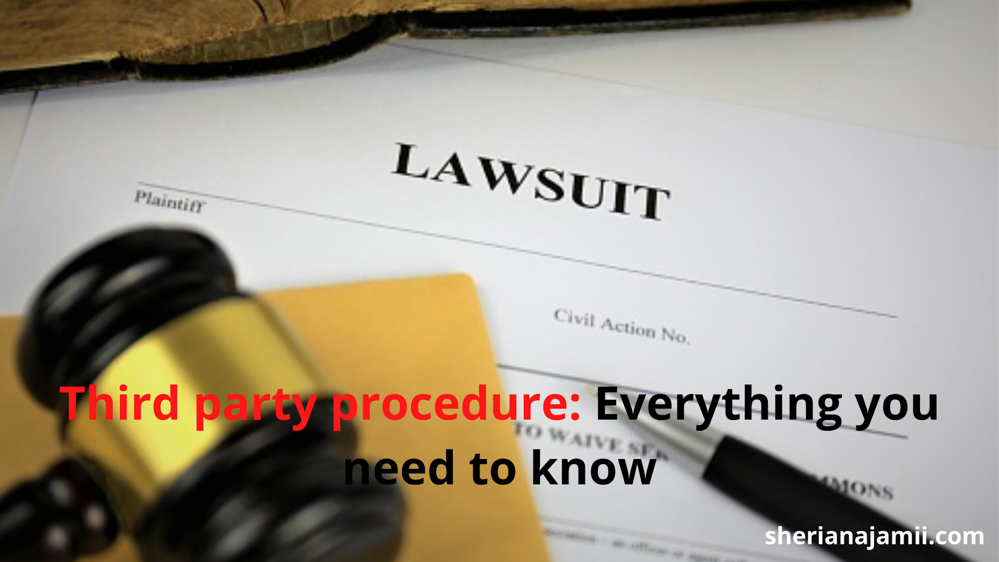 Third party procedure in Tanzania , conditions and procedures for joining a third party into the suit