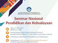 Kemendikbud Gelar Seminar Nasional Pendidikan dan Kebudayaan 17 Mei 2017