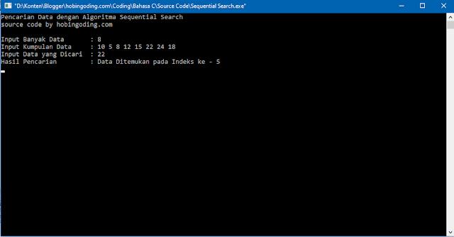 Algoritma Sequential Search Bahasa C