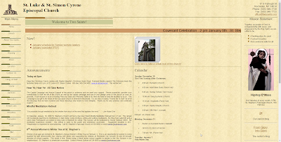A screen capture of the site's index page