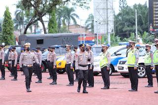 Kapolda Sumut Pimpin Apel Gelar Pasukan Operasi Patuh Toba 2021, Sebanyak 1295 Personil Kepolisian Dikerahkan