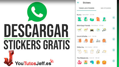 como descargar stickers whatsapp