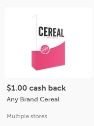 $1.00 off any Cereal ibotta cashback rebate *HERE*(limit 1)