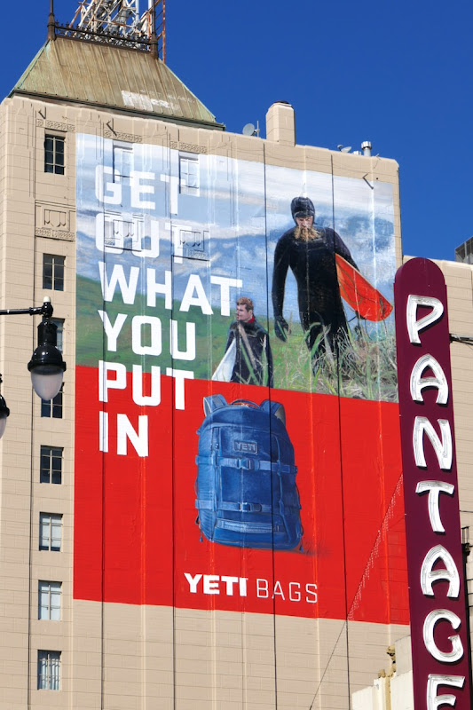 Yeti Bags Get out what you put in billboard