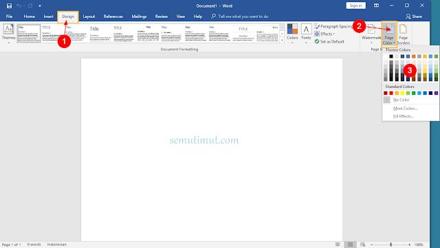 cara membuat background di word full