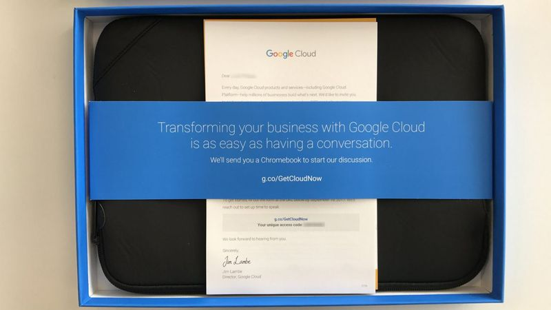 Google is trying to poach Microsoft Azure partners by sending them free Chromebooks