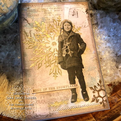 Sara Emily Barker https://sarascloset1.blogspot.com/2019/12/quick-christmas-cards-with-tim-holtz.html Mixed Media Christmas Cards #timholtz #stamperia 3