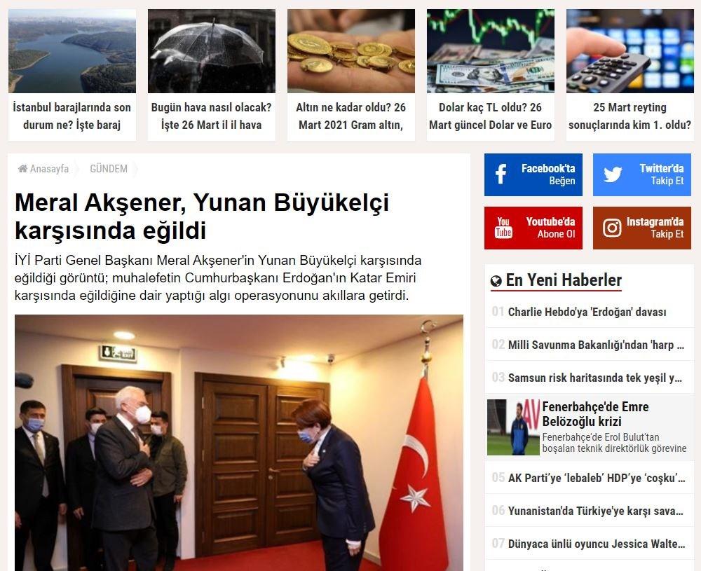 Χαμός στην Τουρκία με την υπόκλιση της Ακσενέρ στον Έλληνα Πρέσβ