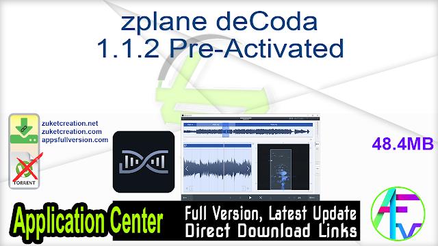 zplane deCoda 1.1.2 Pre-Activated