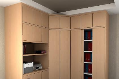 Design lemari interior office marketing