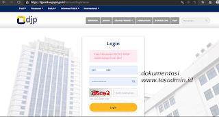 NPWP Kategori Non Aktif Error tidak bisa login