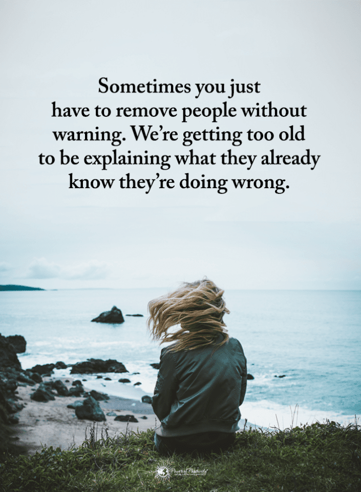 Sometimes you just have to remove people without warning ...