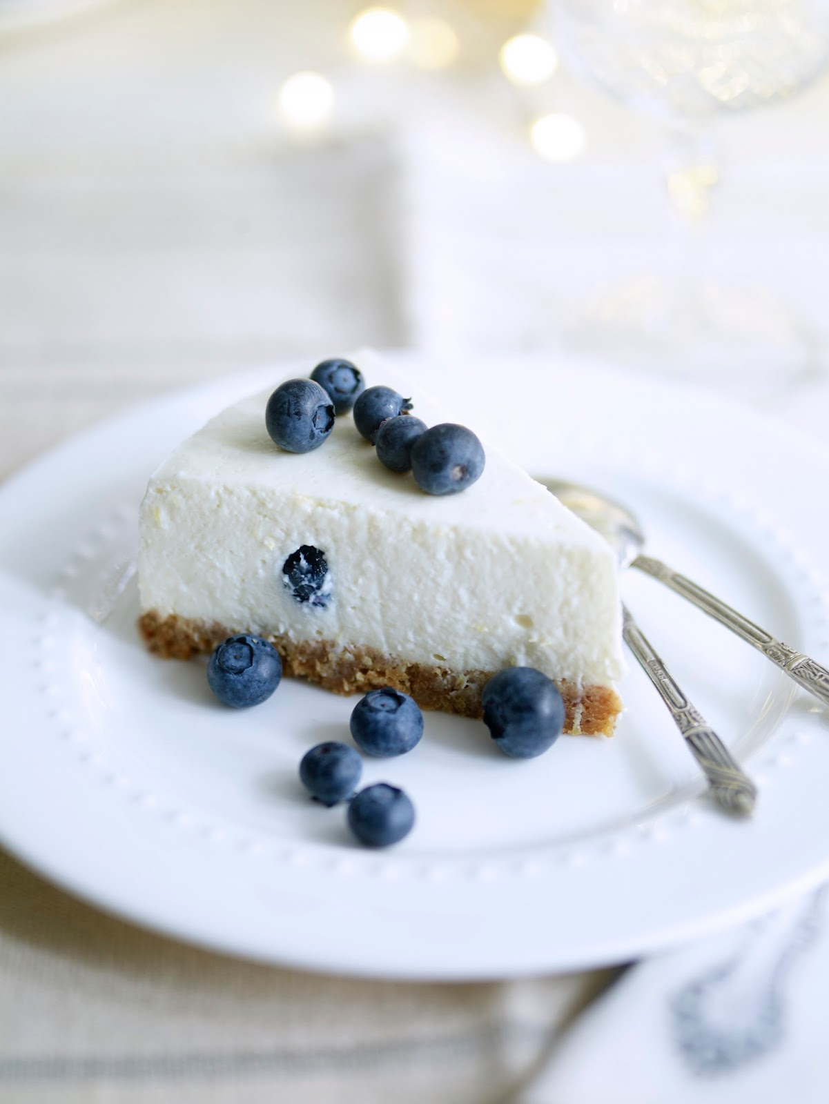 Lemon And Blueberry Cheesecake: Afternoon Tea