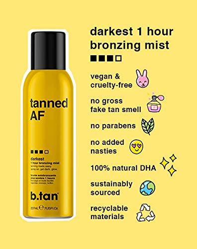 b.tan tanned AF...self tan mousse