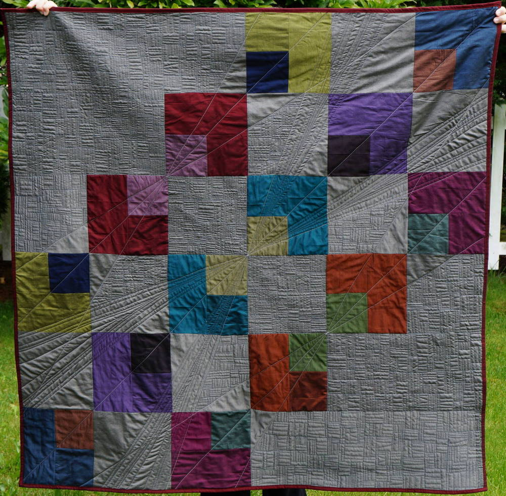 Quilty Habit Reflection Modern Quilt Tutorial For Oakshott Lipari