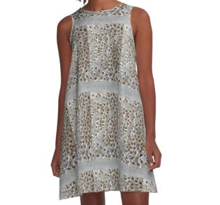 Dress with Moringa Seed Print - by Amanda Trought