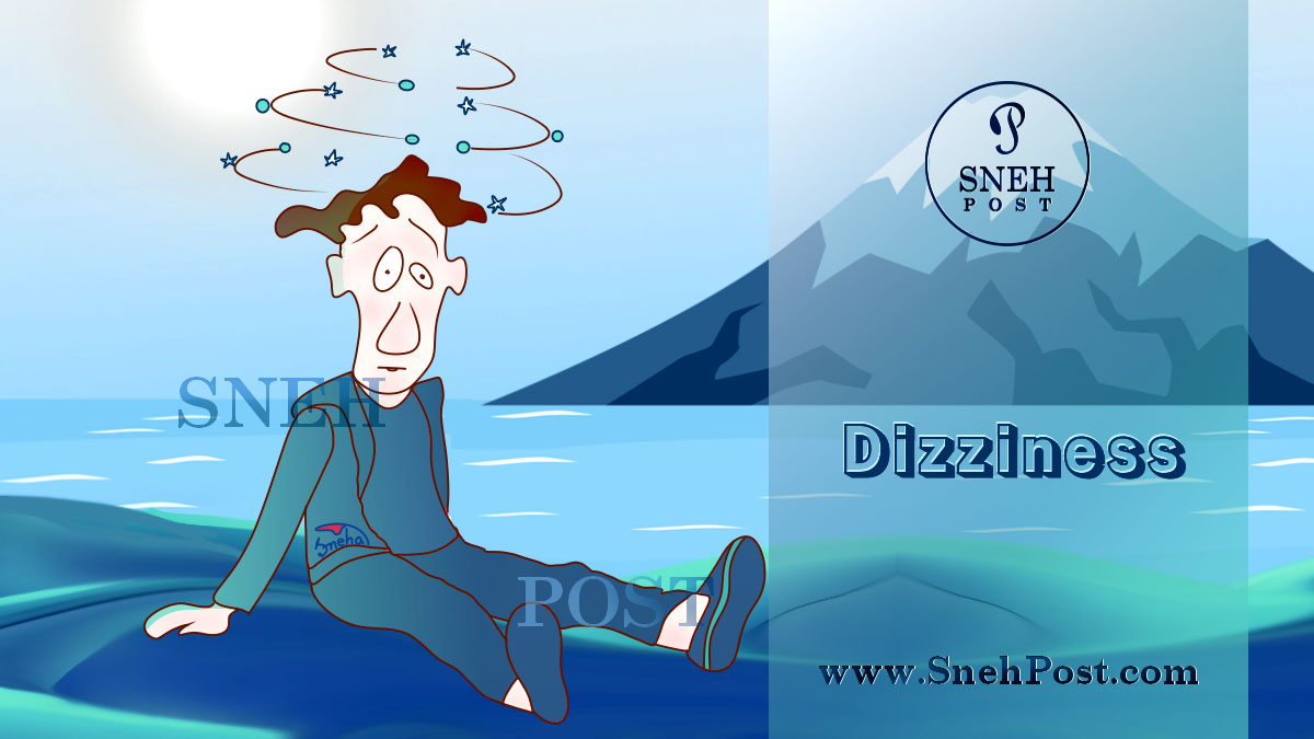 Negative effects of skipping meals causes nausea and dizziness: Sitting on ground, a guy suffering from dizziness feeling like everything spinning round around and the stars and galaxies are rotating over the head while being in unbalanced and collapsing state. A blue night landscape in background!
