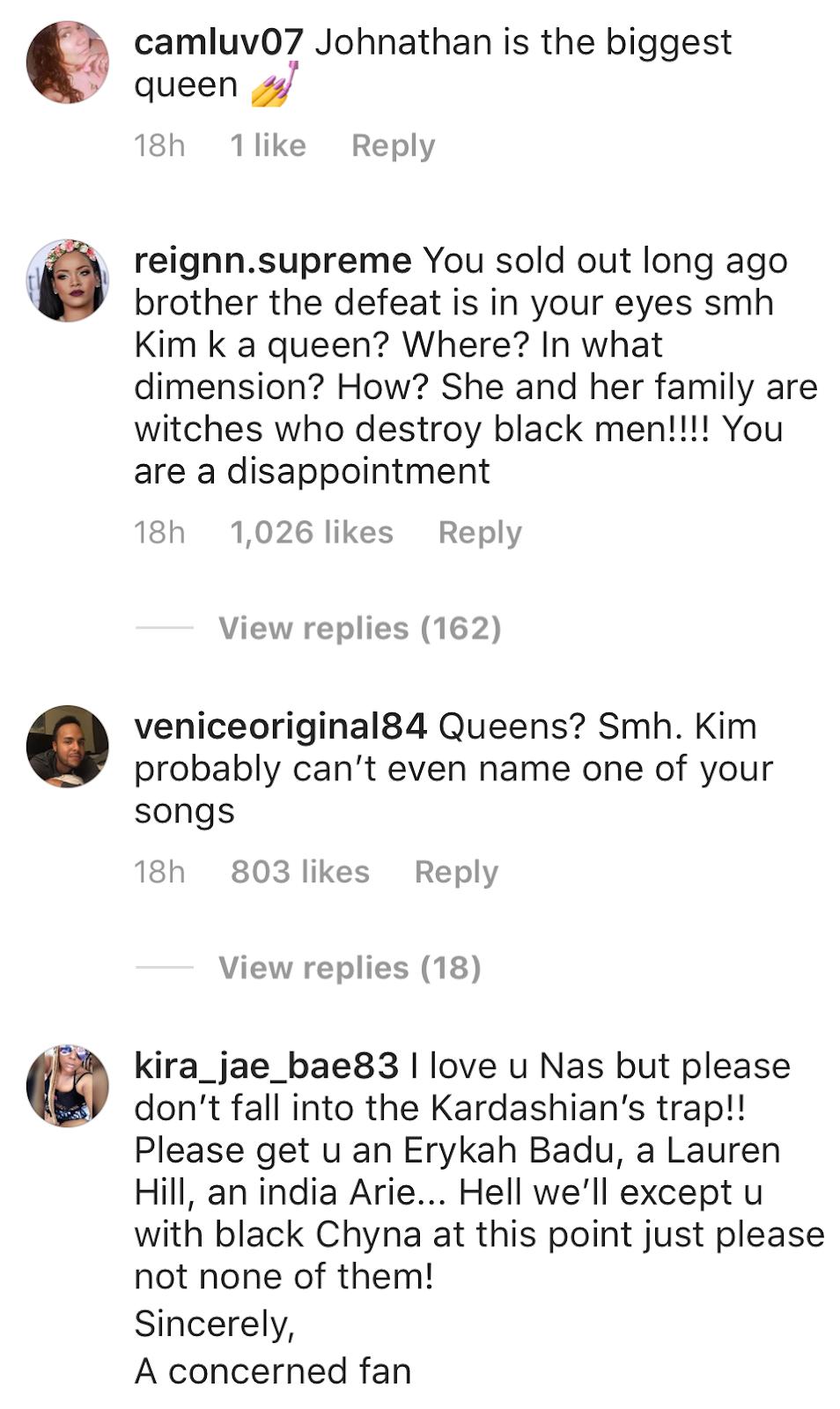 Nas Catches Heat Over Kim Kardashian Post – Rejina's Gossip Fix