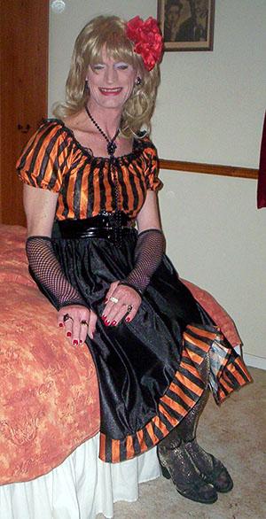 Angela's saloon girl Halloween femulation
