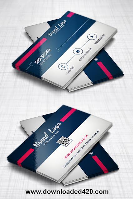 Download Modern Business card Design Template Free PSD