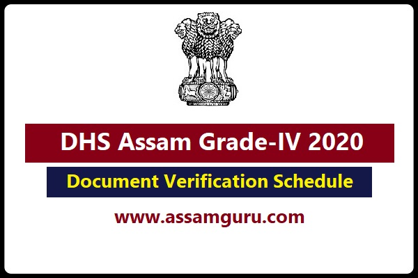 Document Verification Schedule